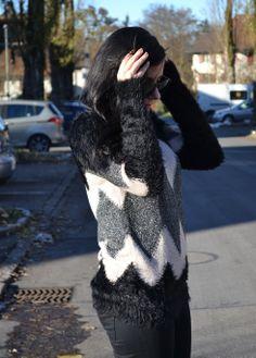 Pullover mit Felleinsatz, Peek & Cloppenburg, mekivi Fashionblog Schweiz #fakefur #pullover