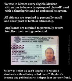 Everyone knows why democrats want no IDs for voting. I mean, isn't it obvious.. They're democrats!!