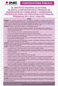 Emite INE convocatoria para integrar sus Consejos Distritales en el estado de Chihuahua   El Puntero