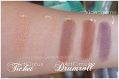 Art Circus - Neve Cosmetics Drumroll Ticket swatch Videogame
