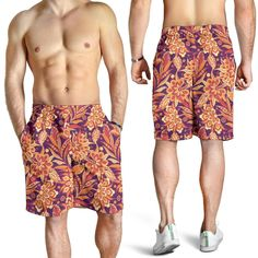Romantic Paisley Men's Shorts – This is iT Original Mens Long Shorts, Indian Skull, Early Morning Workouts, Pineapple Pattern, Print Patterns, Pattern Print, Native Indian, Sport Outfits, Perfect Fit