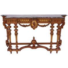1stdibs | Long Louis XVI style console on 6 feet