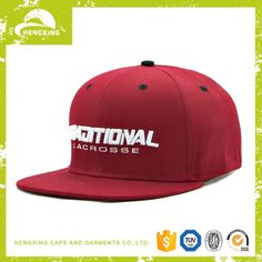 8f830801d120f custom 3d embroidery cotton red snapback hats
