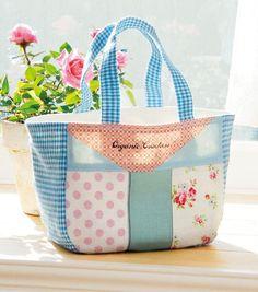 余った布を組み合わせてかわいい!簡単手作りするハンドバッグの作り方(バッグ) | ぬくもり