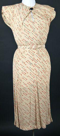 Costume Archive | Women's Day Dress 1933 ~ arrows!