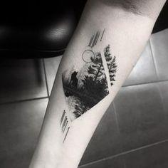 Tatouage Montagne Minimaliste Tatouages Tattoos Mountain Tattoo