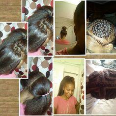 Crochet braids with kanekalon hair and viexen braiding pattern my 1st time doing it myself