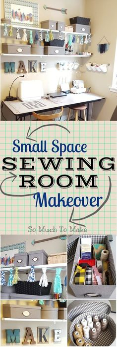 Small Space Sewing Room Makeover   Where to buy, how to make, and what to consider in designing your creative space.