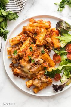 Baked Ziti with Italian Turkey Sausage is a hearty, make ahead casserole that's family and freezer friendly! A healthier twist with incredible flavor! Penne, Tortellini Bake, Sauce Marinara, Tomato Pasta Sauce, Turkey Pasta, Turkey Sausage, Make Ahead Casseroles, Baked Ziti With Sausage, The Recipe Rebel