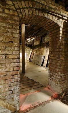 The Seattle Underground: Arched Doorway - an abandoned city under Seattle, Washington, USA.