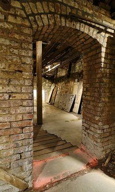 The Seattle Underground: Arched Doorway - an abandoned city under Seattle, Washington, USA.