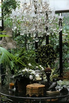 I love how the nature and the glitz and glam compliment each other effortlessly in this
