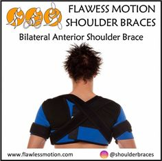 Bilateral Anterior Shoulder Brace info: Part 3  Unique strap placement options enable users to control shoulder and arm positioning by limiting the range of motions that can lead to further injury. The straps can be adjusted for maximum protection or loosened for less support. Buy online at www.flawlessmotion.com  #shoulder #shoulderbrace #shoulderdislocation #shoulderinjurysucks #shoulderinstability #shoulderrecovery #shoulderrehab #shoulderstrapping #shouldersurgery #shouldertaping Shoulder Rehab, Shoulder Brace, Shoulder Surgery, Shoulder Taping, Strengthen Shoulders, Shoulder Dislocation, Hypermobility, Shoulder Injuries, Rotator Cuff