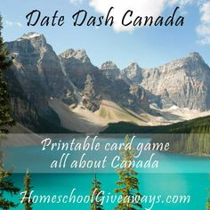 Date Dash Canada Card Game The Big Read, All About Canada, Samuel De Champlain, Educational Activities, Enrichment Activities, Canadian History, Printable Cards, Free Printables, Quebec City