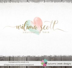 Photography Logos  gold logo  Premade Logo  by autumnscreek