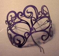 Leather mask in purple Swirly by TomBanwell on Etsy