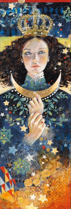 "Darlene Olivia McElroy, Santa Fe mixed media narrative artist -- ""Offering"""