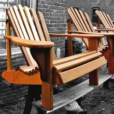 Adirondack Chair Plans – Comfort And Style For Your Patio - Decor Club Wooden Patio Chairs, Outdoor Wood Furniture, Outdoor Chairs, Garden Furniture, Furniture Ideas, Funky Furniture, Furniture Design, Outdoor Dining, Wood Patio