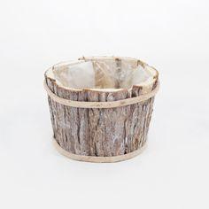 Flormania - Base para arranjo floral em casca de madeira