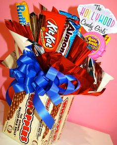 Whopper Chocolate Candy Bouquet  by HollywoodCandyGirls on Etsy, $39.99