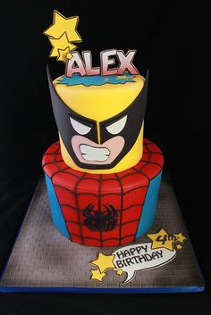 Superhero cake by Andrea's SweetCakes, via