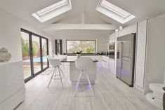 A wonderful ceiling extension which incorporates an impressive 35 ki Understairs Storage Ceiling Extension Impressive incorporates vaulted Wonderful Large Gazebo, House, Family Room, Understairs Storage, Bifold Doors, House Plans, Kitchen Diner, Kitch Design, Vaulted Ceiling Kitchen