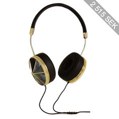Frends Taylor leather and mother-of-pearl headphones