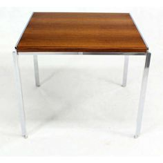 Stow & Davis Mid-Century Modern Walnut & Chrome Coffee Table | Chairish