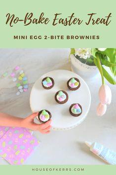 Easter Entertaining Simplified: No Bake Mini Egg Brownies -