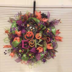 Halloween wreath...$50