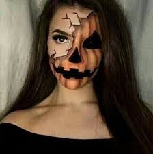 Image result for pumpkin face makeup