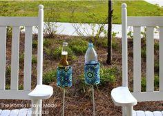DIY outdoor drink holders