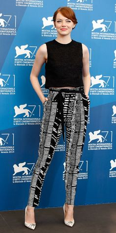 Emma Stone in Proenza Schouler at the Venice Film Festival.