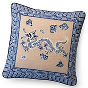 Sometimes, you just want to buy a finished needlepoint. Lovely dragon needlepoint pillow adds a touch of the Orient.