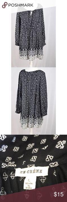 """En Creme Black Midi keyhole Dress Excellent condition. 37"""" L 20"""" pit to pit Modcloth Dresses Midi"""