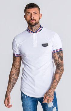 Camisa Polo, Polo Shirt Style, Mens Fashion Wear, Latest T Shirt, Polo T Shirts, White Tees, Urban Fashion, Menswear, Mens Tops