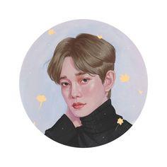 Angel Chen, Cute Bunny Pictures, Exo Anime, Exo Fan Art, Exo Chen, Korean Boy, Simple Wallpapers, Exo Memes, Kpop Fanart