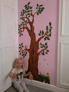 What a gorgeous mural Grace and her family painted for their fairy Sunshine! Family Painting, Fairy Homes, Irish, Sunshine, Crafty, Happy, Ideas, Home Decor, Homemade Home Decor