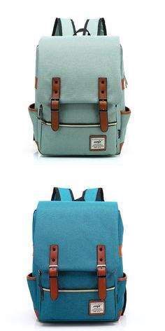 Which color do you like ? Vintage Canvas Travel Backpck Leisure Backpack&Schoolbag #backpack #college #school #canvas #bag #rucksack