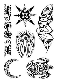 maori art | ... Black Art Tattoos Maori Art, Art Maori, 7 Stück, bunt, 7 Stück