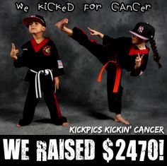 FINAL 2013 #KICKPICSkickinCANCER number is in - $2470!! To all who kicked for a cure - THANK YOU! 2014 will be even better! Pls RT / SHARE.   #CANCERsucks #CANCER  PS - And as you can see, everyone involved had a blast doing it!  kickpics kickpics.net cancer cancersucks kick kicking girl boy karate martialarts taekwondo tkd kempo kajukembo