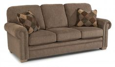 The Harrison High Back Fabric Sofa will delight tall friends & family with its special dimensions. Add in nailhead trim & this is a true conversation piece! Living Room Furniture Sale, Home Furniture, Living Rooms, Sleeper Sofa, Sofa Bed, Family Room, Home And Family, Reclining Sofa, Nailhead Trim