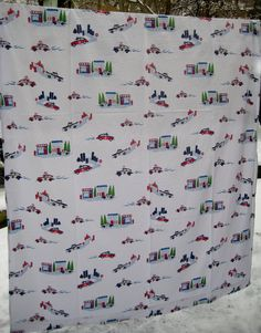 Police Car Pottery Barn Kids Flat Sheet Twin Size by missussewnsew