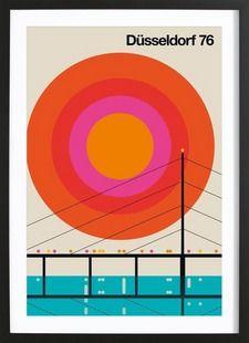 Düsseldorf 76 - Bo Lundberg - Framed Poster