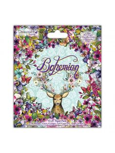 Dovecraft Paper Pad Bohemian 6x6The Bohemian Paper Pad has 48 sheets of vibrant and delicate hand painted artwork featuring wildlife and floral designs in beautiful colours.