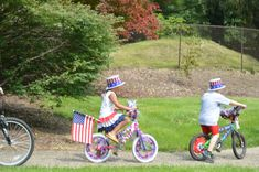 Georgie's bike parade in the park