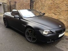 Beautiful #BMW e63 with a matte satin black wrap. Fantastic work by WrappingCars (London UK) #MakeitStick #PaintisDead