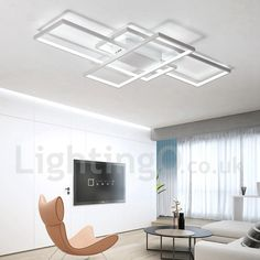 Honey Living Room Modern Dimmable Chandelier Minimalism Led Ceiling Chandelier Swing Shape Acrylic Led Luminarias Lamparas Fashionable And Attractive Packages Ceiling Lights & Fans