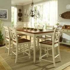 10 Counter Height Dining Set Digital Photograph for a Traditional Kitchen with a…