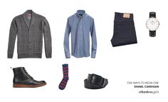 Not just warm, but also versatile, the shawl collar works for many occasions, from semi-formal to super casual. Here are a few cardigan outfit ideas. Mens Shawl Cardigan, Chunky Knit Cardigan, Lace Cardigan, Cardigan Outfits, Smart Casual Wardrobe, Preppy Winter, Sweater Coats, Dress To Impress, Menswear